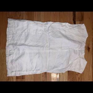 free people linen short white dress